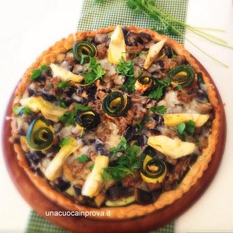 torta olive carciofi e zucchine - Diana  Grandin - Foodblog 001